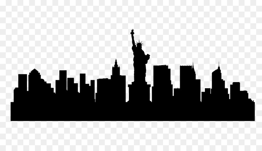 New York City Skyline Silhouette Illustration - Skyline New York - New York City PNG Black And White