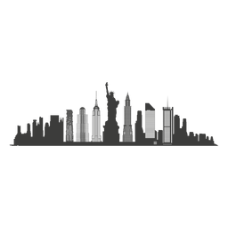 New york skyline silhouette - New York City PNG Skyline