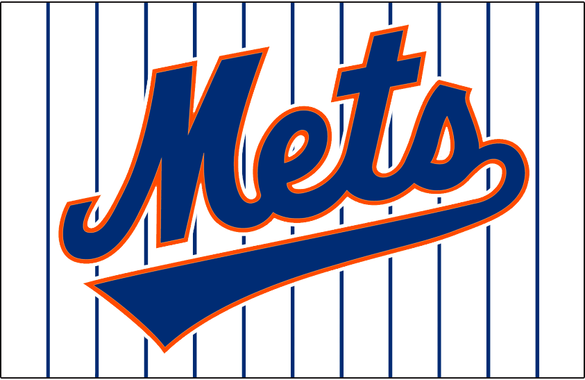 New York Mets Jersey Logo (1993) - Mets scripted in blue with underscore and