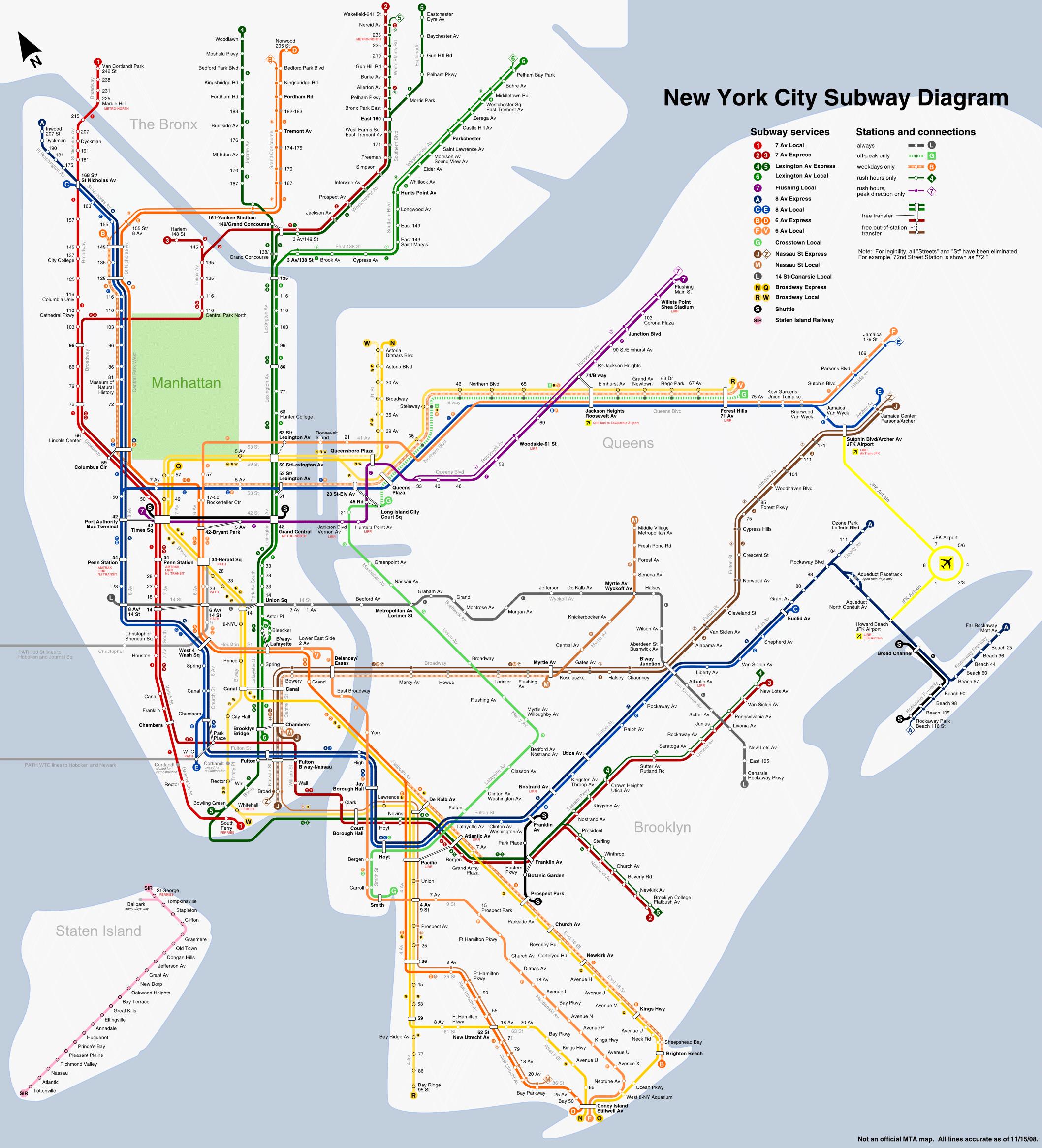 Portable Nyc Subway Map.New York Subway Png Transparent New York Subway Png Images Pluspng