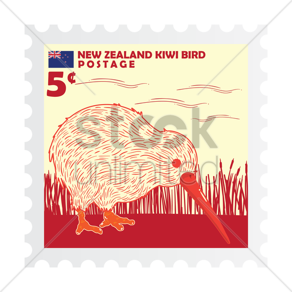 new zealand postage stamp design vector graphic - New Zealand Post Vector PNG