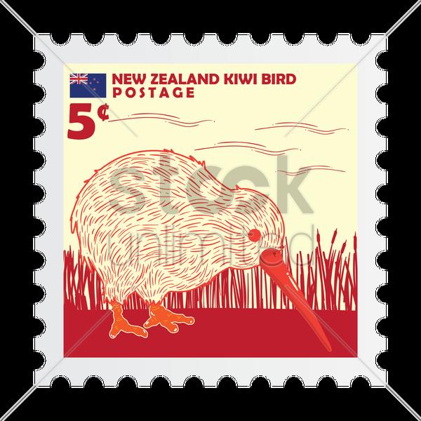 new zealand postage stamp design vector graphic - New Zealand Post Vector PNG