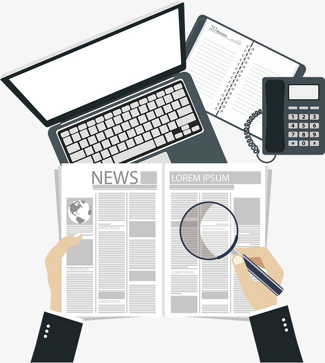 Make a news bulletin, Vector Png, Watch News, Read The Newspaper Free PNG  and Vector - News Bulletin PNG