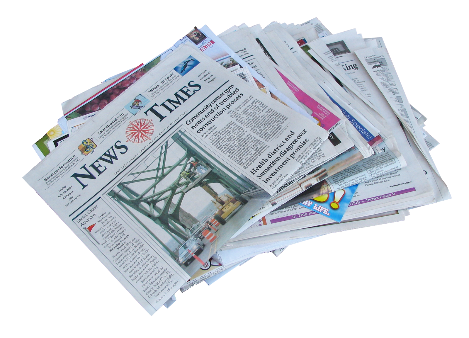 Newspaper Png Newspaper Stack