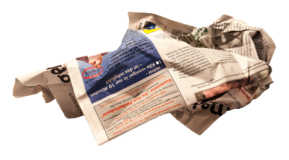 Newspaper, Isolated, Decoration, Paper, Photoshop, Font - Newspaper PNG