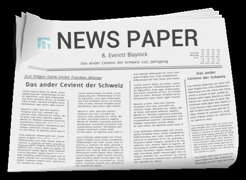 Newspaper PNG Transparent Ima