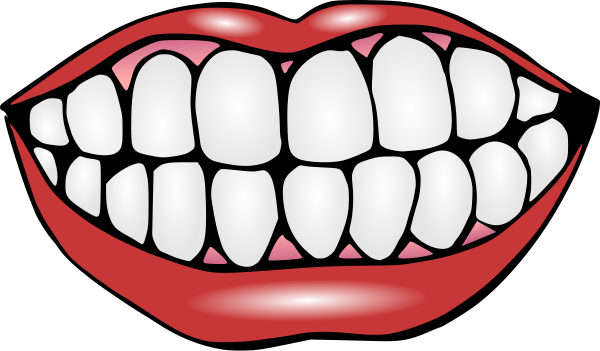 Cartoon Mouth With Teeth Clipart - Ngiti PNG