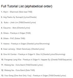 Full Tutorial List - Ngiti PNG