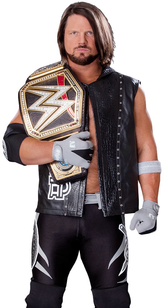 Aj styles wwe champion by nibble t-day5yvc.png - Nibble PNG