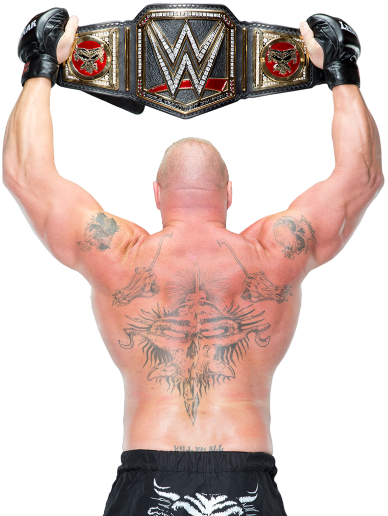 Brock lesnar wwe world heavyweight champion by nibble t-d9j3t1g.png - Nibble PNG