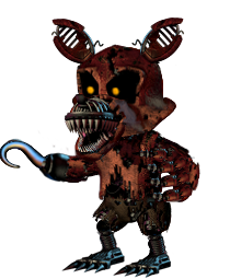 Adventure Nightmare Foxy by TrevorMother PlusPng.com  - Nightmare Foxy PNG