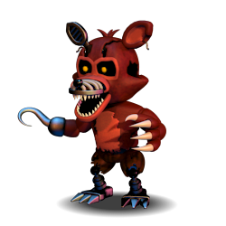 [FNAF WORLD] Adventure Nightmare Foxy PNG by Daspancito PlusPng.com  - Nightmare Foxy PNG