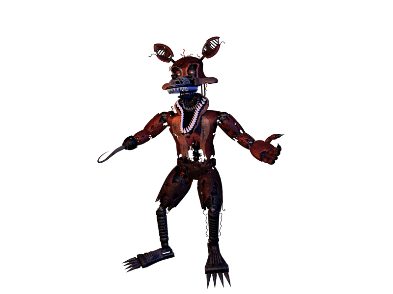 Nightmare Foxy by Foxy-Gamer-90EX PlusPng.com  - Nightmare Foxy PNG