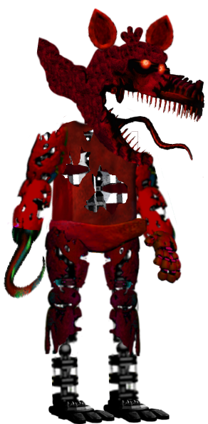 Nightmare Foxy Full Body by FredbearTheAnimatron PlusPng.com  - Nightmare Foxy PNG