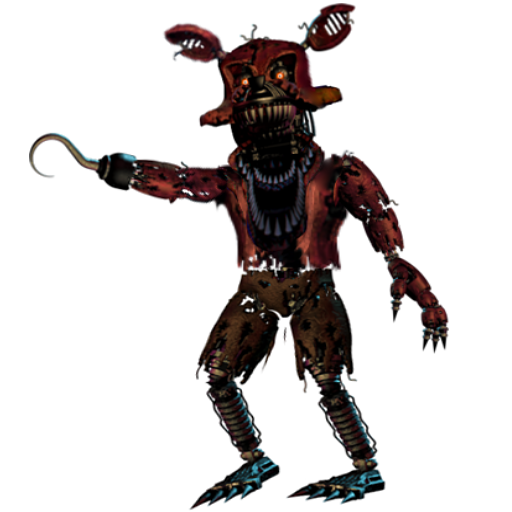 Nightmare Foxy Full Body by Spring-o-bonnie PlusPng.com  - Nightmare Foxy PNG