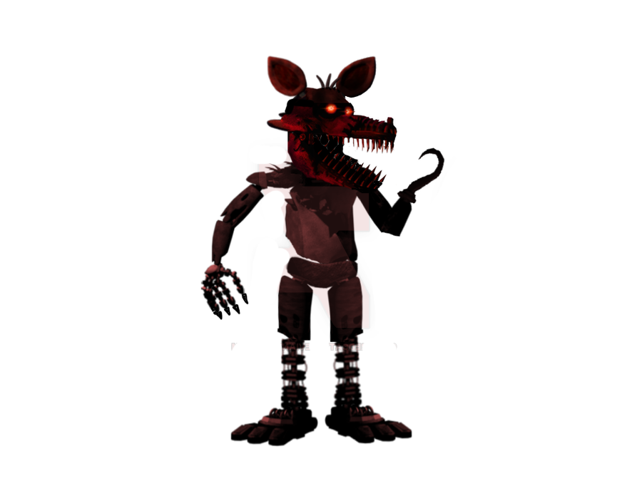 Nightmare Foxy (Full Body Shot) by gboypalodia PlusPng.com  - Nightmare Foxy PNG