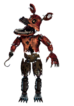 nightmare Foxy full body *thank you image* by JoltGametravel PlusPng.com  - Nightmare Foxy PNG