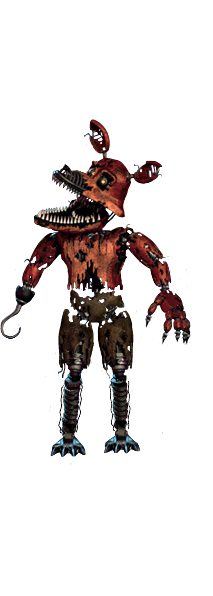 Nightmare foxy full body thank you image .png - Nightmare Foxy PNG