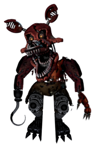 nightmare foxy in the closet by BenTheHybrid1 PlusPng.com  - Nightmare Foxy PNG