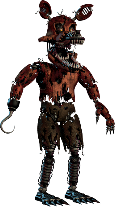 Nightmare Foxy.png - Nightmare Foxy PNG