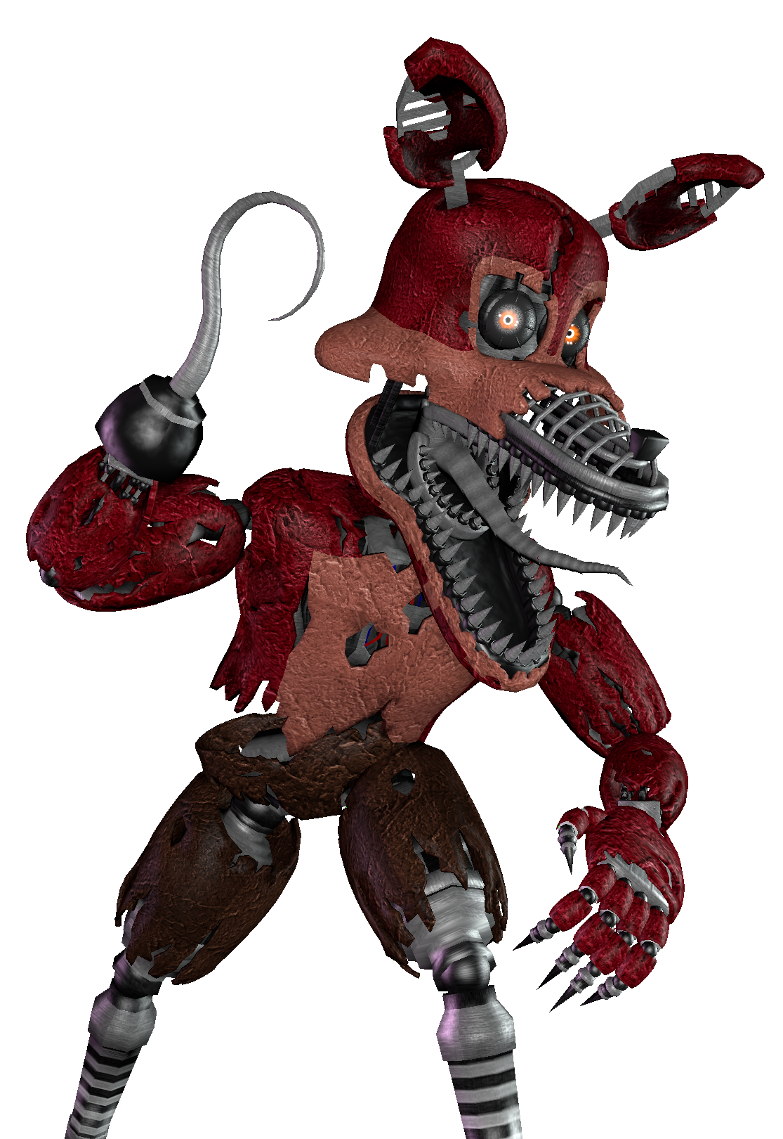 Nightmare Foxy [Render] (SFM) by Arrancon - Nightmare Foxy PNG