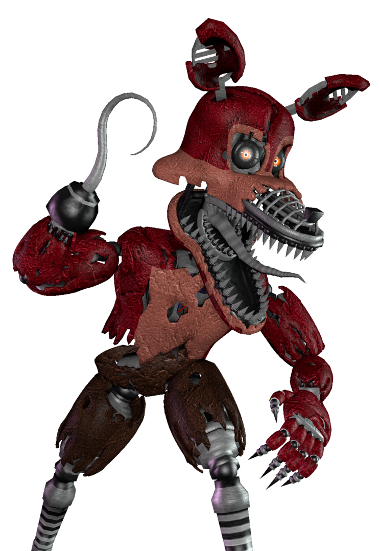 Nightmare Foxy [Render] (SFM) by Arrancon PlusPng.com  - Nightmare Foxy PNG