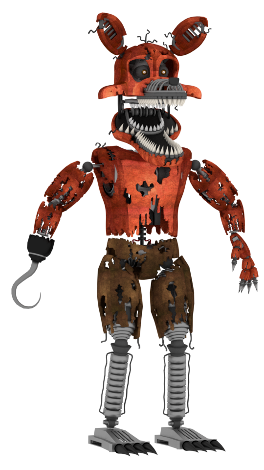 PuppetProductions 26 12 Nightmare Foxy full body by a1234agameer - Nightmare Foxy PNG
