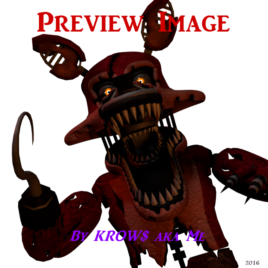 [SFM FNAF] Nightmare Foxy Walk Test Animation by SirCuntMuffin on DeviantArt - Nightmare Foxy PNG
