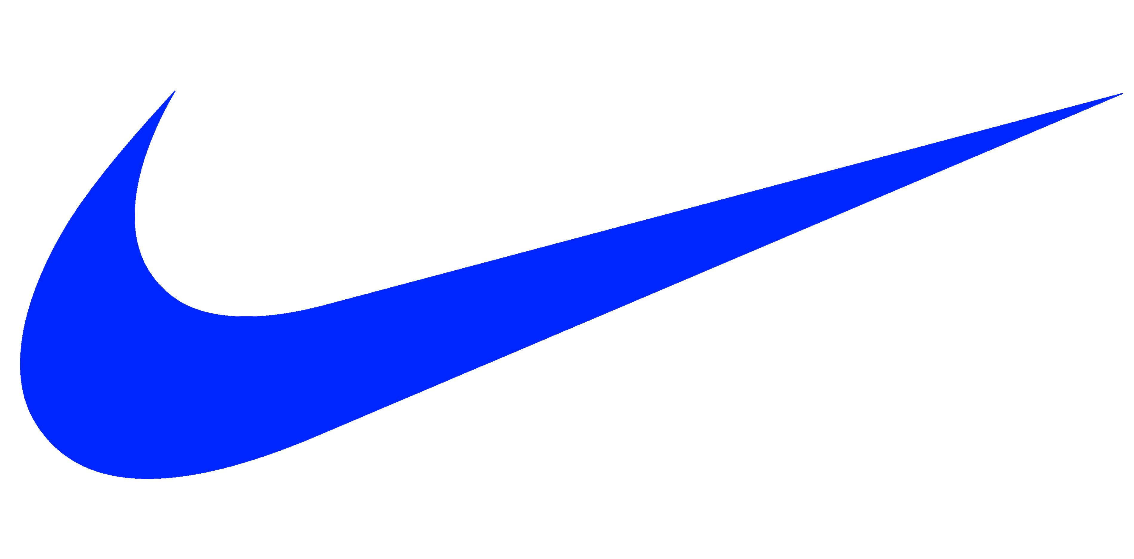 Nike logo, blue - Nike HD PNG
