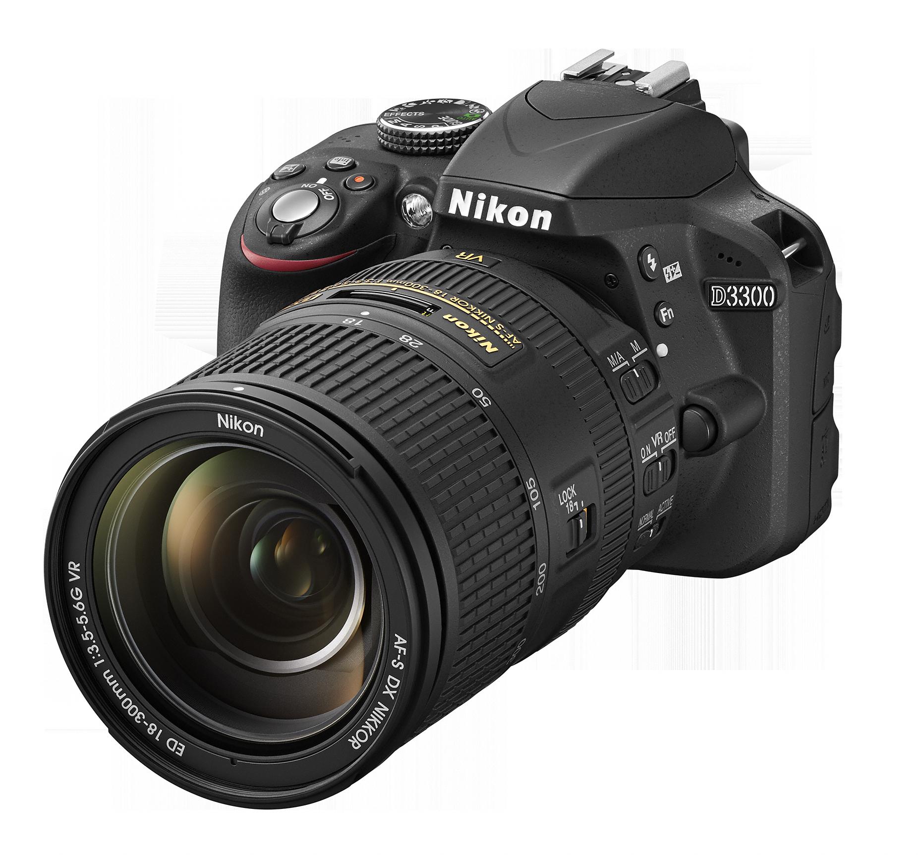 D3300_BK_18_300.png - Nikon PNG