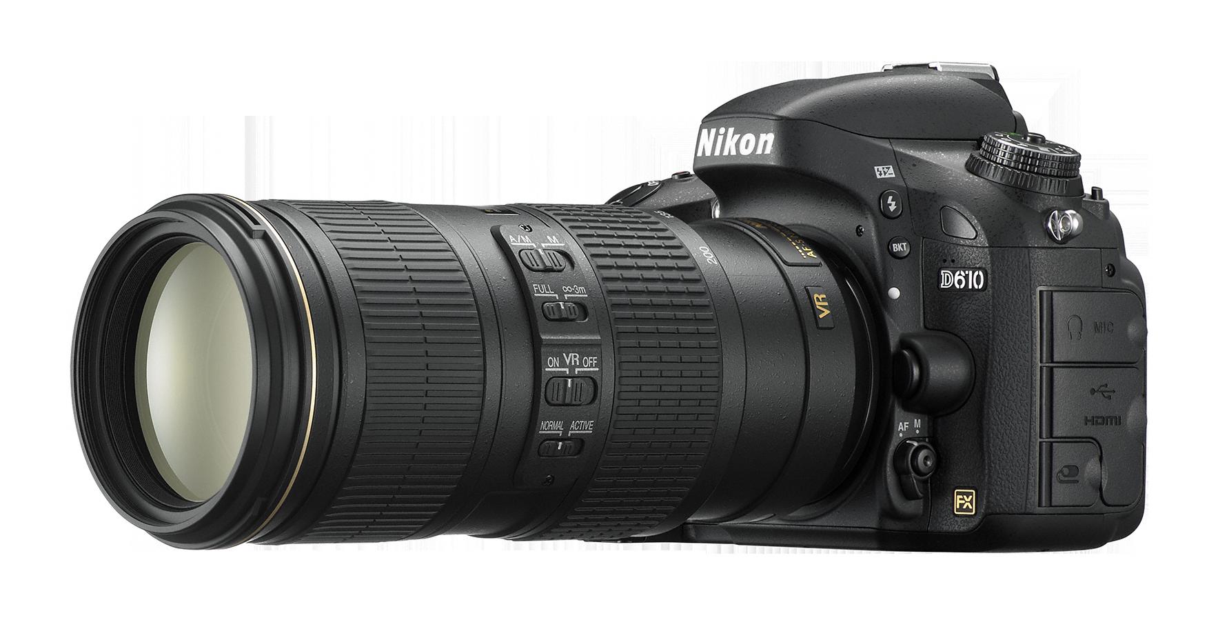 D610_70_200.png - Nikon PNG