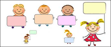 Cute kids placards vector material - Nino Con Cartel PNG