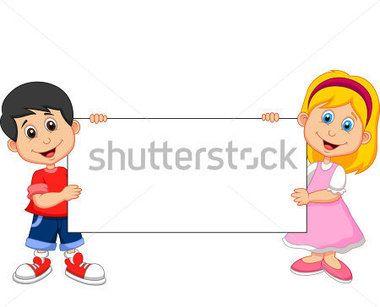 Dibujos animados de chico con cartel en blanco - Nino Con Cartel PNG