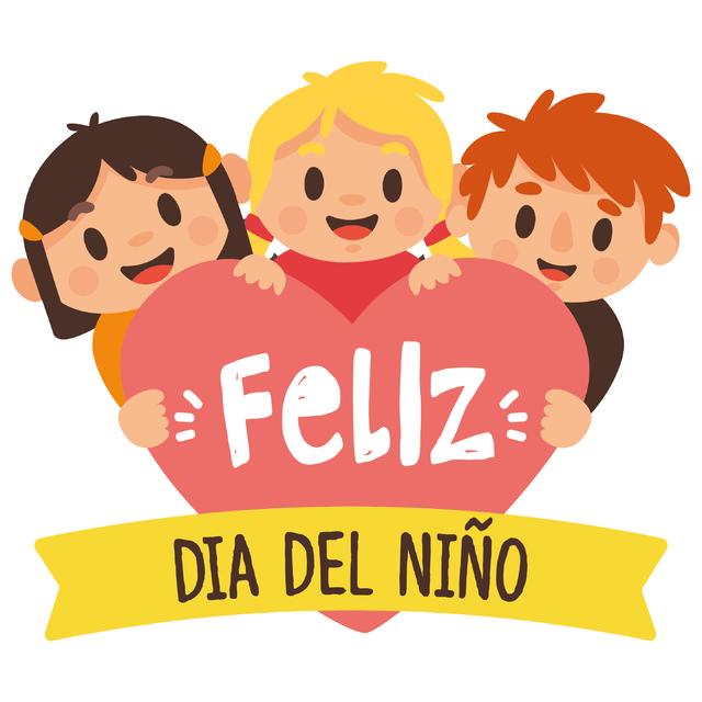 Feliz - Cartel en Vinilo Día Del Niño - Nino Con Cartel PNG