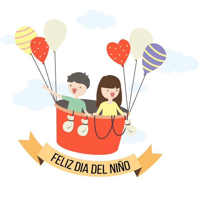 Globos - Cartel en Vinilo Día Del Niño - comprar online - Nino Con Cartel PNG