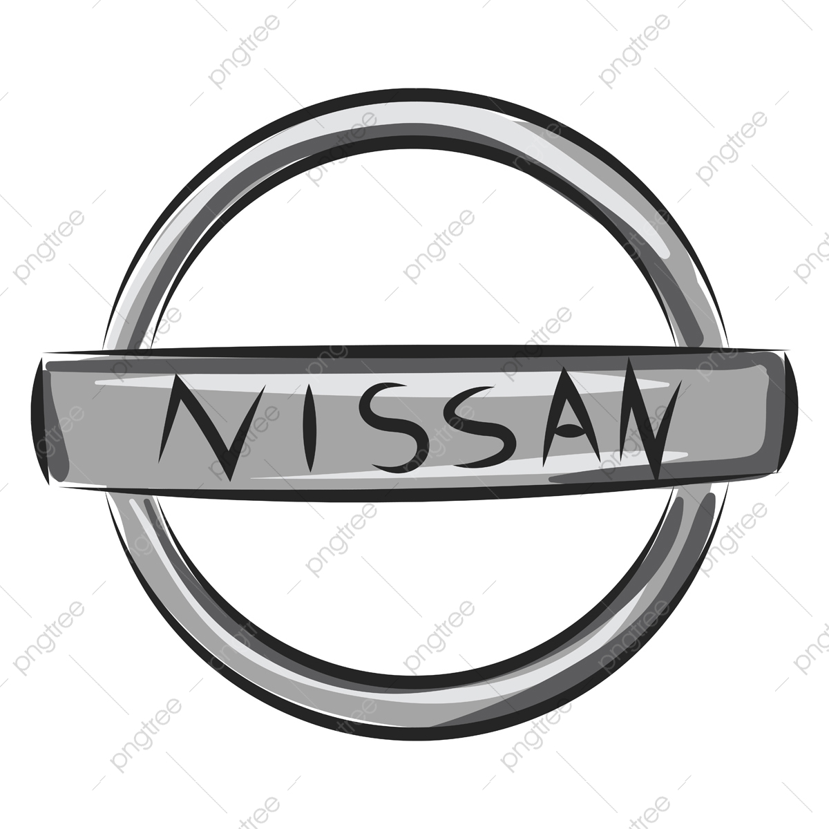 Nissan Logo Vector Or Color Illustration, Circle, Ring, Steering Pluspng.com  - Nissan Logo PNG