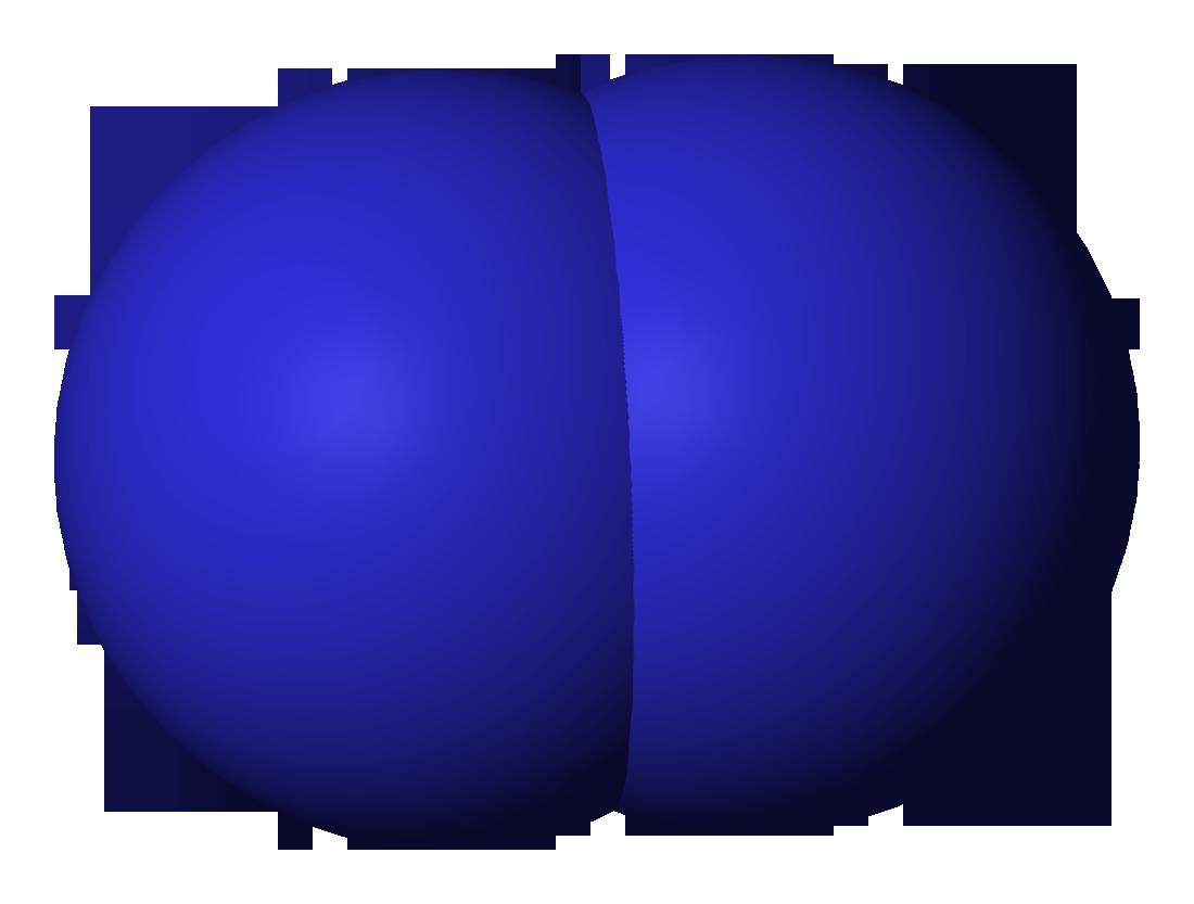 File:Nitrogen-3D-vdW.png - Nitrogen PNG
