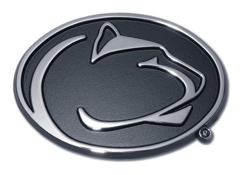 Penn State Nittany Lions Chrome Metal Auto Emblem (Nittany Lion) NCAA - Nittany Lion PNG