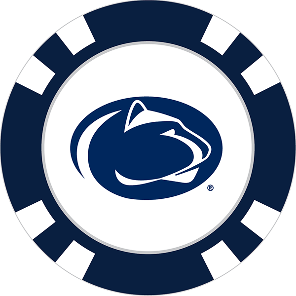 Penn State Nittany Lions Poker Chip Ball Marker - Nittany Lion PNG