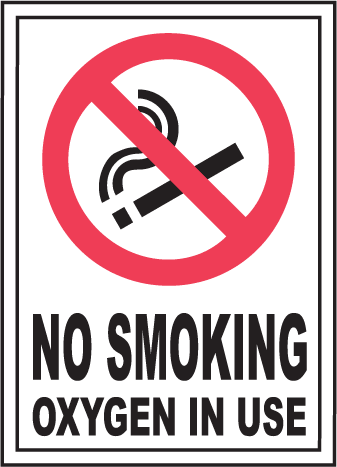 No Smoking Oxygen In Use Sign - No Oxygen PNG