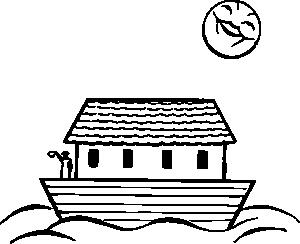 Noah S Ark Clip Art - Noah PNG Black And White