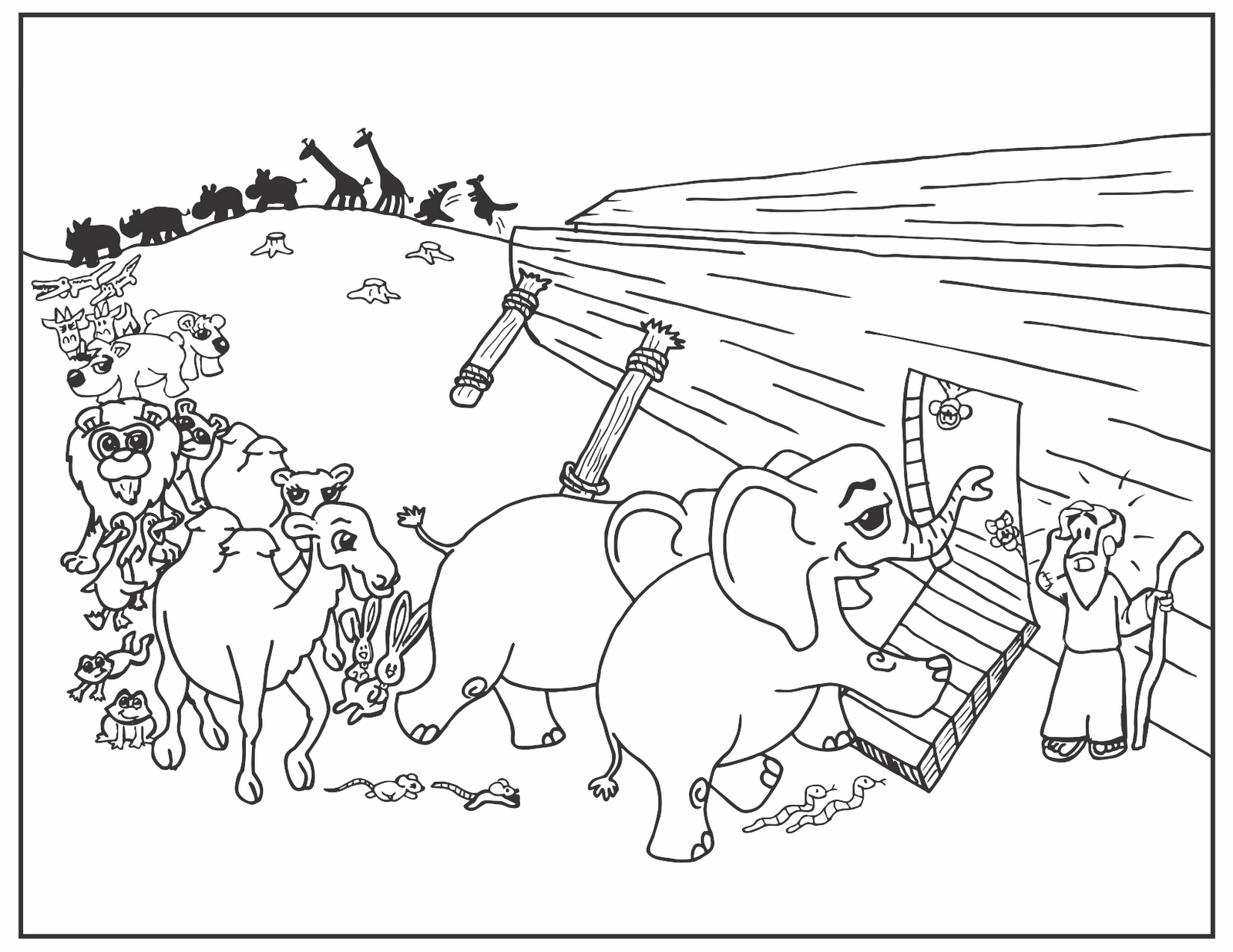 Noahs Ark PNG Black And White - 74028
