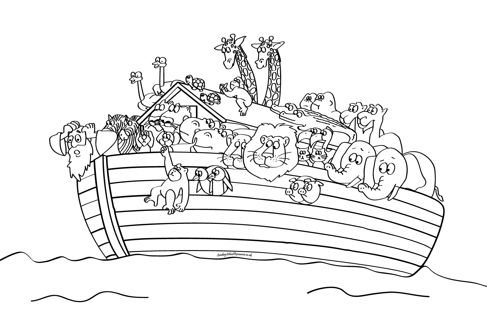 Noahs Ark PNG Black And White - 74019