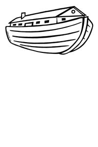 Noahs Ark PNG Black And White - 74018