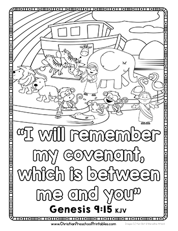 Noahs Ark PNG Black And White - 74029