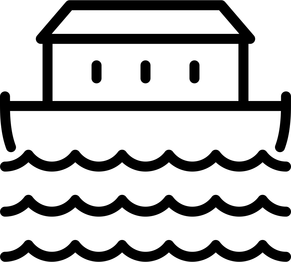 Noahs Ark PNG Black And White - 74017