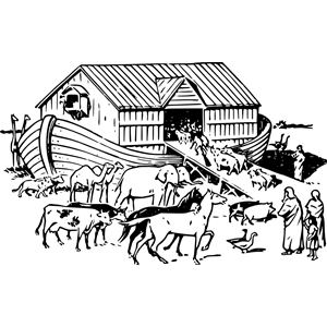 Noahs Ark PNG Black And White - 74015
