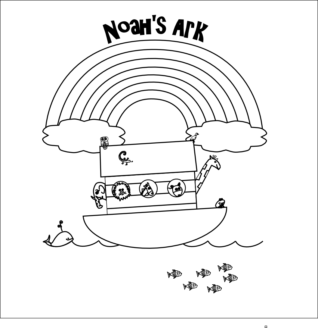 Noahs Ark PNG Black And White - 74023