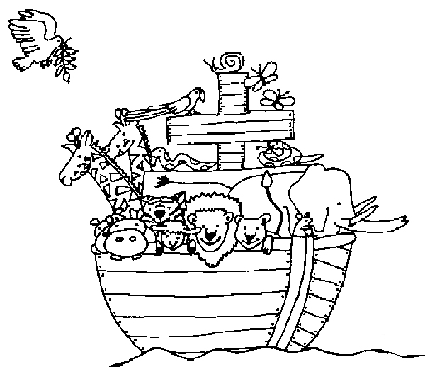 Noahs Ark PNG Black And White - 74021