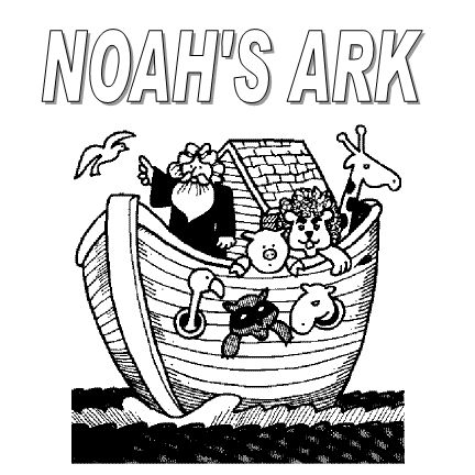 Noahs Ark PNG Black And White - 74030